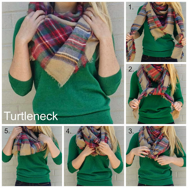 Способы завязать теплый шарф